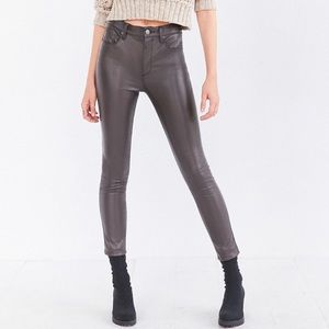 Urban Outfitters BDG Twig High Rise Faux Leather Pants in Dark Taupe